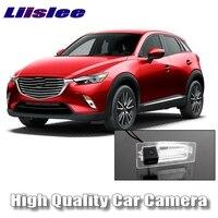 LiisLee Car Camera DC 6V / 12V Akari High Quality Rear View Back Up Backup Camera CCD with RCA For Mazda CX 3 CX3 CX 3