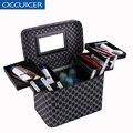 Caja de cosméticos de diseñador de alta calidad bolsa de cosméticos portátil impermeable organizador de maquillaje bolsa de cosméticos para mujer maquillaje dedicado