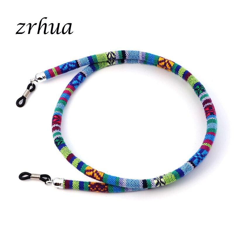 ZRHUA Practical Eyeglass Sunglasses Cotton Neck String Cord Retainer Strap Eyewear Lanyard Holder High-End Ethnic Glasses Chain