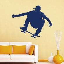 Skateboarder Wall Decals Removable Mural Sport Art Vinyl Stickers Gym Nursery Kids Living Room Home Decor Mural YO-141