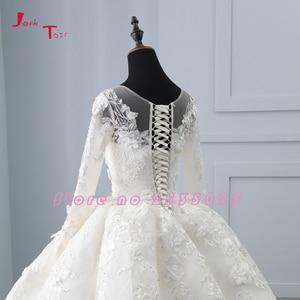 Image 5 - 2020 New Arrival Bruidsjurken suknie ślubne z długim rękawem suknia ślubna szata de Mariee Princesse de Luxe 3D kwiaty Hochzeit