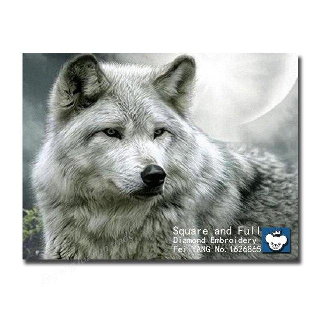 Diamant Muster Wolf Diamant Mosaik Malerei Tier Stickerei Wolf