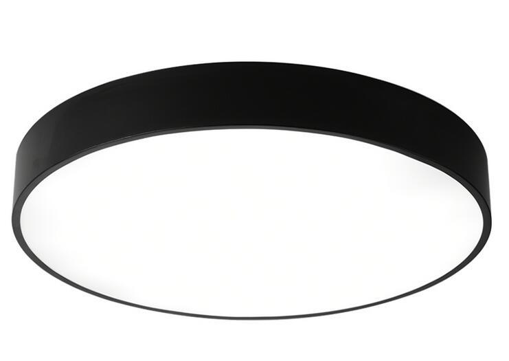 Plafoniere Con Telecomando : Montaggio superficiale lampada led plafoniere rotonde in bianco nero