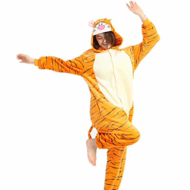 Взрослая Пижама женская Фланелевая Пижама унисекс Человек-паук Покемон Пикачу мультфильм пижама для животных набор с капюшоном пижамы панда кигуруми