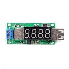 DC-DC быстрой зарядки Step Up Модуль 4USB Boost 3 В 3.7 В 4.2 В до 5 В 2A цифровой Дисплей Питание регулятор для телефона Зарядное устройство
