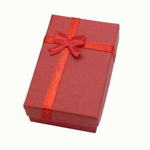 Image 3 - 32 sztuk pudełka na prezenty papierowe na opakowanie na biżuterie 5*8*2.5cm pierścień kolczyki naszyjnik uchwyt wyświetlacz nowy rok boże narodzenie/prezent ślubny