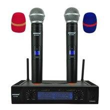 Freeboss телефон с дальностью 50 м, 2 канальная портативная микрофонная система для караоке, UHF, беспроводной микрофон (Бразилия, Сан Паулу, запас без налога)