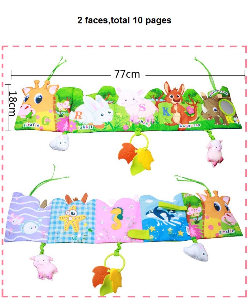 Infant Activity Book Cartoon Animal Soft Baby Educational Toy Cloth Book Plush Animal Story Intelligence Developing Toy KF030 2