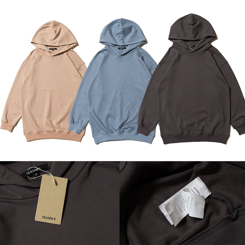Men's Clothing Bright Season 6 Hoodies 2019 Spring New Kanye West Hip Hop Skateboard Season6 Pullover Solid Color Casual Season 6 Sweatshirts