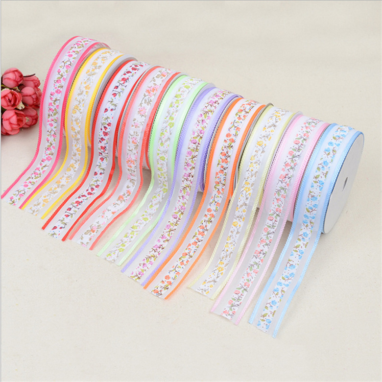 2.5cm Ribbon Bow Clip Flower headdress garment accessories accessories ultrasonic embossing lace belt