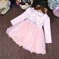 Vestidos de Niña de niño Princesa vestido de Bola Del Partido Vestido de Los Cabritos Ropa de Las Muchachas de Flores Colorido Bordado Vestido de Los Niños del Otoño 3-9 T