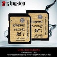 Original Kingston SD Card 64GB Class10 SDHC SDXC Flash Memory Cards UHS I HD Video Cartao