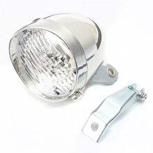 цена на PUAK523 Bike Front Light, 3 LED Vintage Retro Lamp, Classic Bicycle Headlight- Not Rechargeable