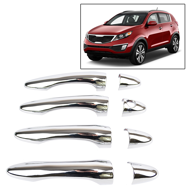 Fits Kia Sorento 11-13 CHROME B-Pillar Door Cover window Mirror Trim Post