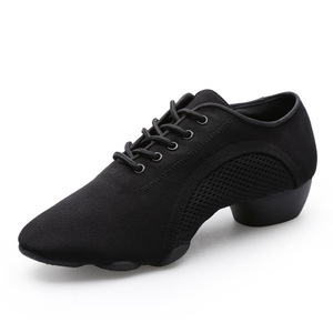 Image 2 - Bottom scarpe latine uomo tela sport scarpe da ballo neutre donna Oxford tessuto scarpe da ginnastica da ballo latino scarpe Oxford misura grande