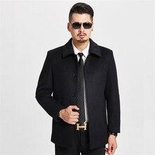 New Men Woolen Winter Coat Jacket Casual Men's Wool parka Overcoats Longer Warm Wool costume  Thicken Clothing