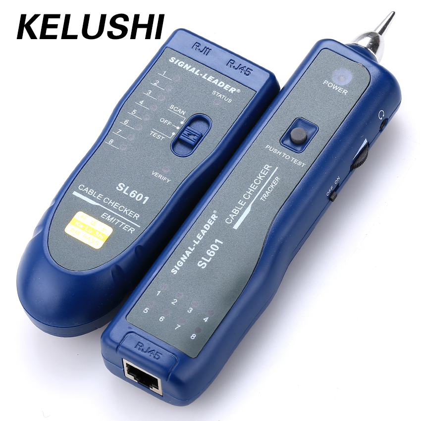 KELUSHI Free Shipping 1PCS 3KM SL601 RJ45 RJ11 Network Tester in retail package Network Wire Cable