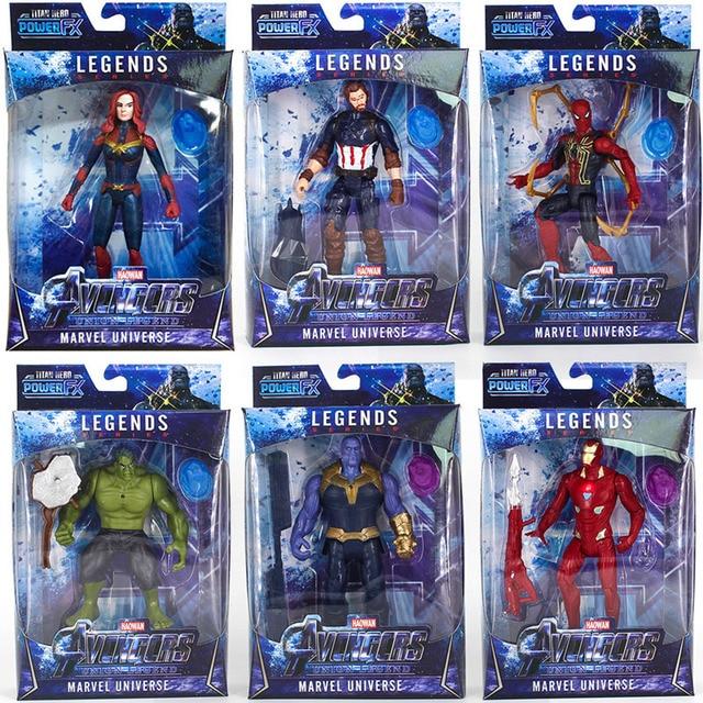 Maravilhas 4 Vingadores Thanos Figura Capitão Spiderman Superhero Ironman Thor Figura de Ação DO PVC Funkos Aparece Brinquedo Crianças Presentes
