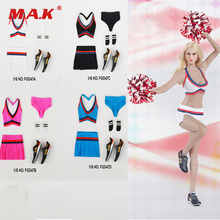 6bb15d829a129 1 6 Sexy Female Clothes White Pink Black Blue Colors Cheerleading Skirt