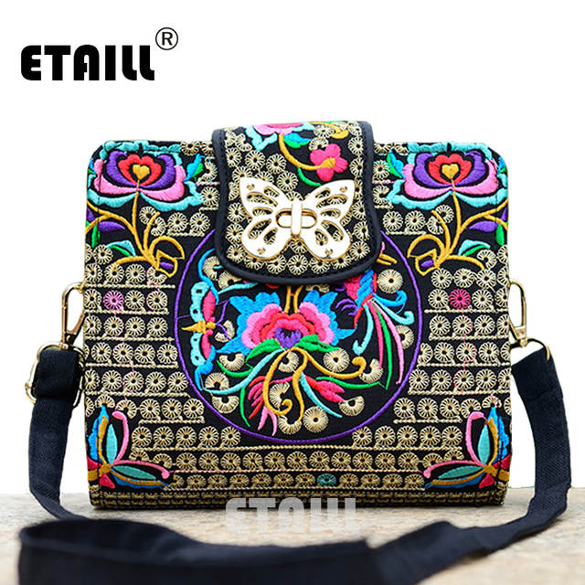 c0c987ec3e placeholder Double Side Chinese Hmong Vintage Ethnic Embroidered Bags  Embroidery One Shoulder Cross-body Women Luxury