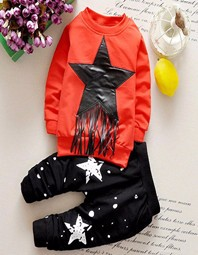 New-arrival-baby-boy-winter-clothing-solid-printing-black-star-dot-boy-s-great-quality-cotton