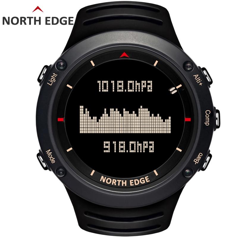 남자 스포츠 디지털 시계 방수 육군 스포츠 시계 시간 실행 수영 고도계 기압계 나침반 날씨 북쪽 가장자리-에서디지털 시계부터 시계 의  그룹 1