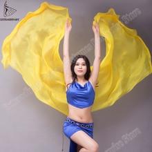 Velo de seda para danza del vientre para mujer, velo de seda con textura ligera puesta en escena, bufanda lanzada a mano, accesorios de disfraces, 250cm, 270cm