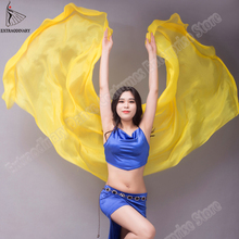 베일 shawls 여성 밸리 댄스 실크 베일 가벼운 질감 무대 성능 손으로 던져 스카프 의상 액세서리 250 cm 270 cm
