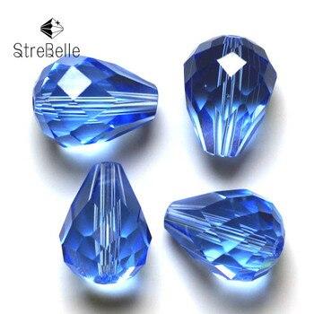 fa578483d645 8x6mm gota de lágrima de cristal facetado cuentas de cristal multi colores  elegir por ti mismo de la boda accesorios para el cabello de cuentas
