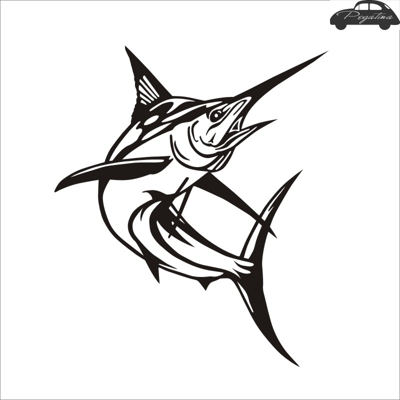Pegatina Swordfish Decal Angling Tackle Shop Hollow