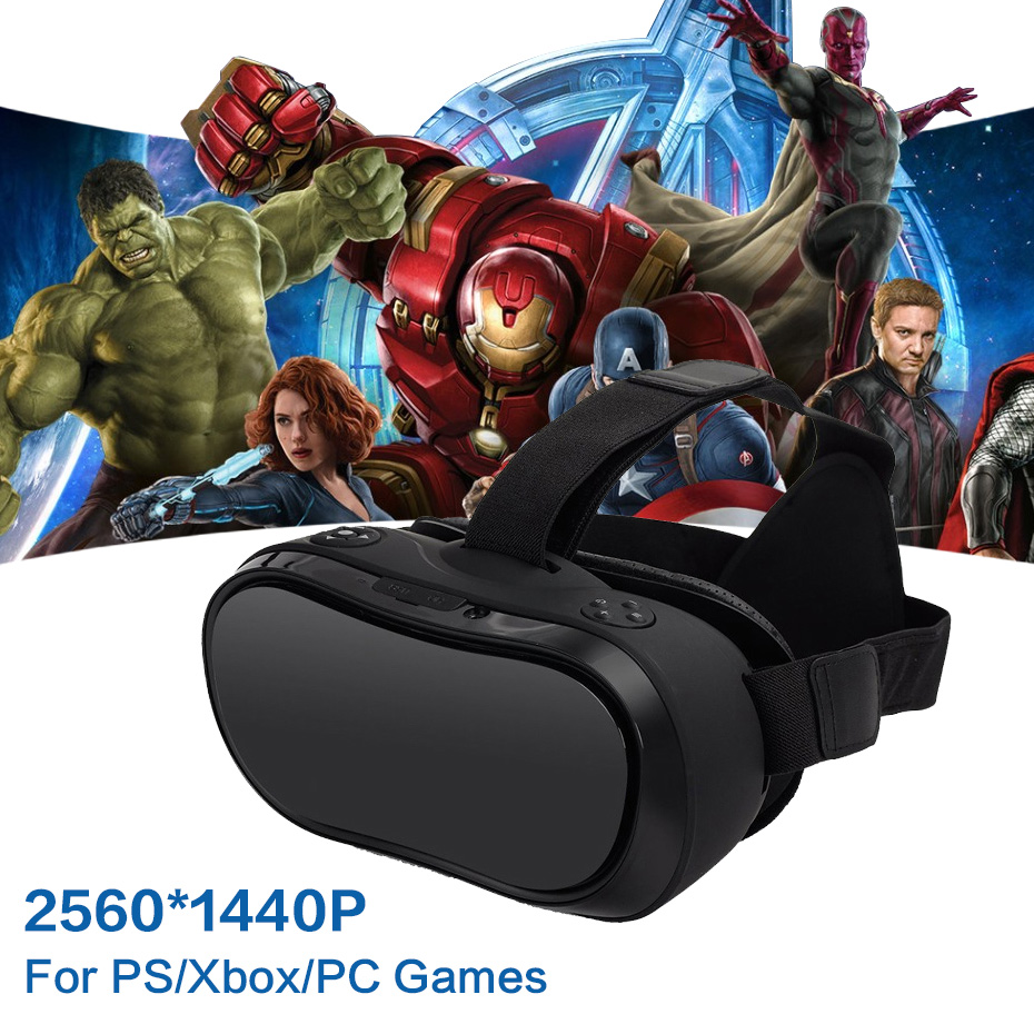 VR Box 3D Glasses Virtual PC Glasses Headset All In One VR For PS 4 Xbox 360/One 2 K HDMI Nibiru Android 5.1 Screen 2560*1440 P vr 3d headset for ps 4 xbox 360 pc 2560 1440 rk3288 virtual reality goggles all in one vr with wired controllers for ps 4 pc