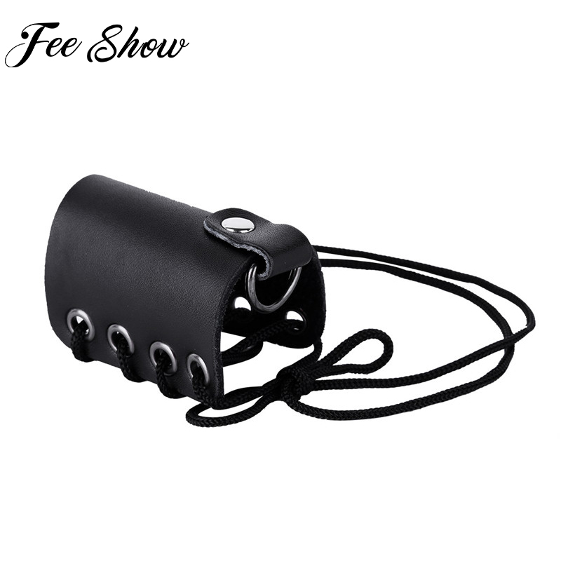 Feeshow Hombre Men Male Adjustable Genuine Leather Chastity Belt Lace-up C-Strap Mention Ring Bracelet Underwear Harness