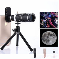 18X Optical Telescope Lens Telephoto Zoom Phone Lens With Tripod For iPhone 8 7 6s Samsung Xiaomi Phone Camera Lens