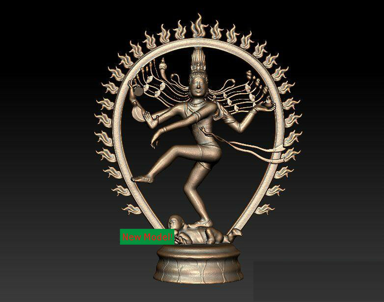 3D Model Stl Format For Cnc Machine Shiva Nataraja Phase
