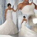 Top Mermaid Wedding Dresses Sweetheart Sleeveless Lace Plus Size Wedding Dress for Woman