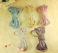 3mm Rope 5 different Metallic color  Elastic rubber band elastic hair band DIY handmade jewelry materials