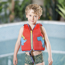 Megartico life jacket for kids red dinosaur Float Vest Child Toddle Swim Trainer Vest waterproof UPF 50+ buoyancy 2-6 years old(China)
