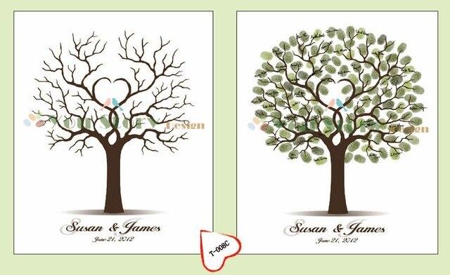 aliexpress.com : 42x60 cm customized liebes vögel hochzeit ... - Dekoration Baum