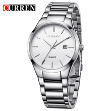 CURREN Military Clock White Silver Watches Date Display Mens Quartz Watches Top Brand Luxury Sport Relogio Masculino infantry top brand luxury mens watches fashion casual sport wristwatch led display date clock army military relogio masculino