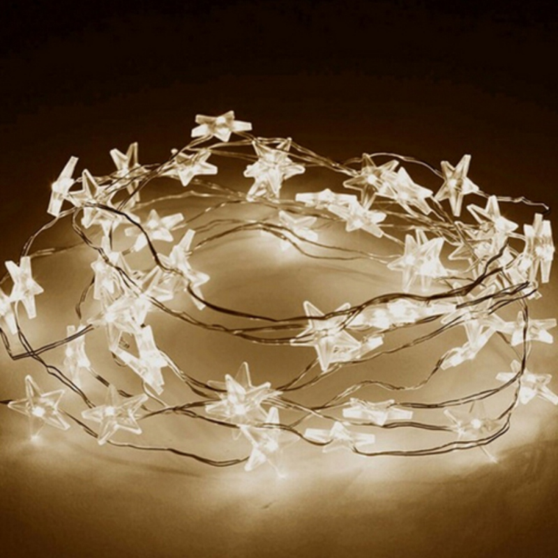 2M/3M LED Star Copper Wire String Lights LED Fairy Lights Christmas New Year Decoration Lights Battery Operate Twinkle Lights