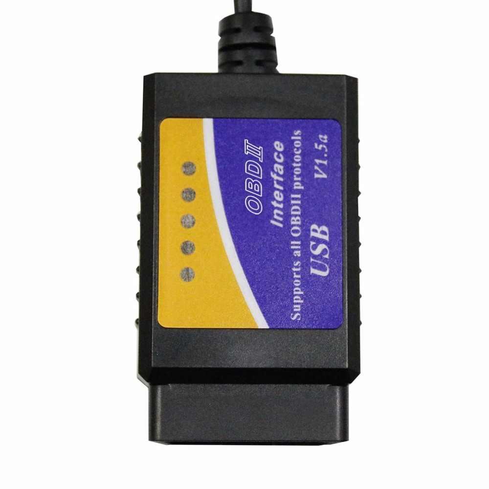 ELM327 USB OBD2 Otomatik araç Teşhis Aracı ELM 327 V1.5 USB Arabirimi OBDII CAN-BUS Tarayıcı sıcak satış ~