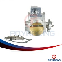 PQY STORE- NEW THROTTLE BODY FOR EVO 4G63 70mm CNC Intake Manifold Throttle Body evo7 evo8 evo9 4g63 turbo PQY6948