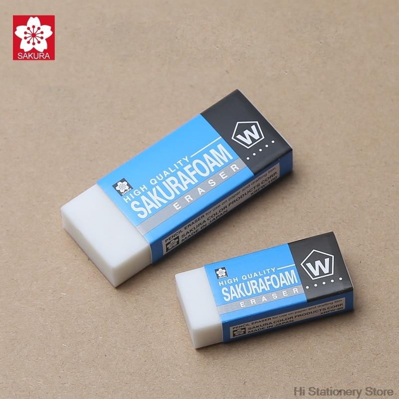 10Pcs/Set Sakura High Quality Sakurafoam Eraser Professional Drawing Eraser Rubber Pencil Eraser High Polymer 2018