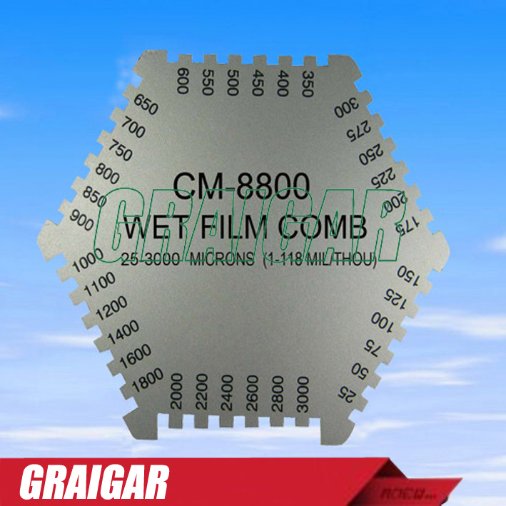 Landtek CM-8000 Wet Film Comb Coating Thickness Tester Meter инструменты измерения и анализа landtek sl5816 sl 5816 40 130