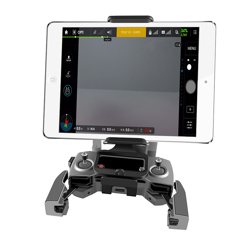 Image 4 - DJI Remote Control Holder Bracket Phone Tablet Front Bracket Holder for DJI Mavic 2 Pro DJI Mavic Air Spark Mount Clip for Pad-in Remote Control from Consumer Electronics