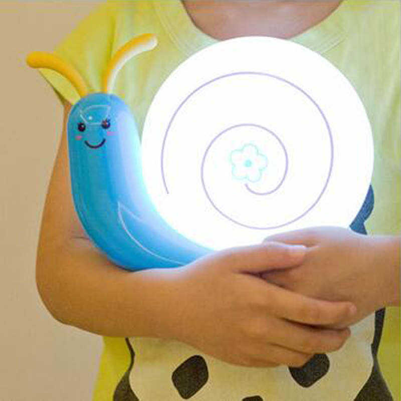 2018 Creative Cute LED Snail Wall Lamp For Children Kids Babylampe Dekorasjon Nattlys Kjøkken Under Skapslampe