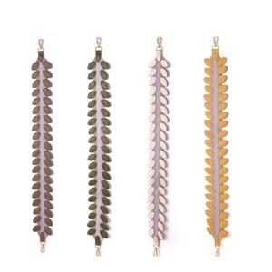 Genuine Leather Leaf wide shoulder strap For Bags Purses Belts Rivet Petal Strap Belt For Women Handbag Accessoires