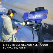 цена на LEMATEC Gravity Feed Sandblasting Gun With Safety Glasses & Two Nozzle Air Sandblast Speed Blaster Sand Spray Gun Sandblaster