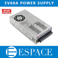 Mean Well 5V 60A 300W Switching Power Supply Driver For LED Strip AC 100 240V Input