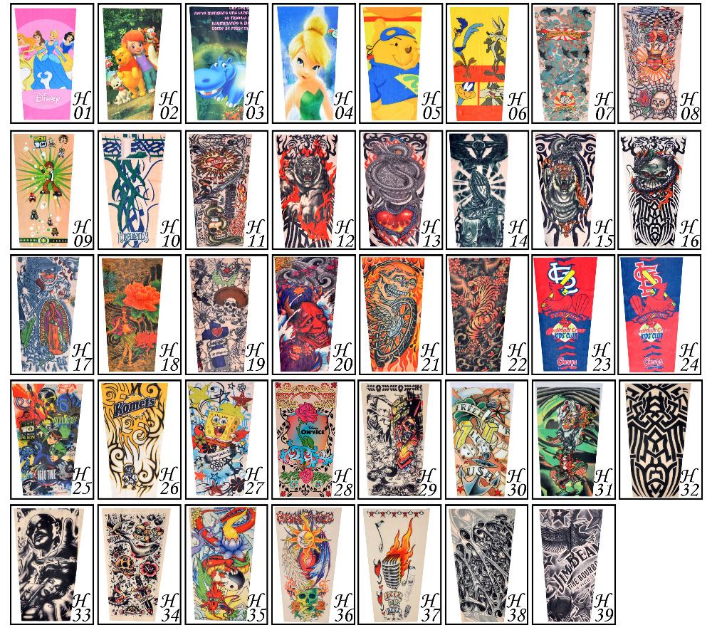 17 New kids cool Cartoon sunscreen tatoo Child arm art sleeve cycling temporary tattoo Stretchy scorpion fake tattoo sleeves 11